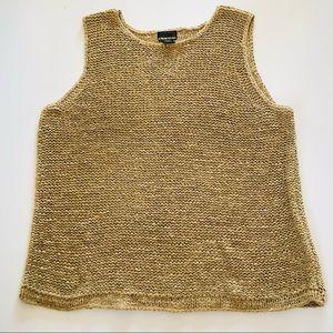 Sigrid Olsen Sport Chunky Knit Sleeveless Sweater